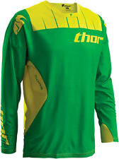 Thor Mens Kelly Green/Yellow Core Contro Dirt Bike Jersey MX ATV 2016