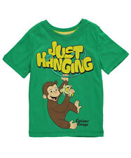 """Curious George Little Boys' Toddler """"Just Hanging"""" T-Shirt (Sizes 2T - 4T)"""