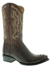 Mens Brown Crocodile Leather Cowboy Boots Round Rodeo Western Alligator Exotic