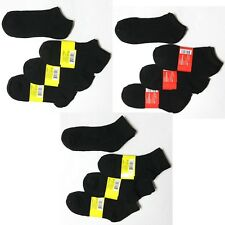 6 12 Pairs Mens Women Sports Casual Low Cut Black Ankle Socks No show 9-11 10-13