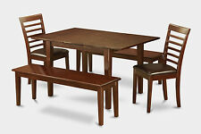 5 Piece dinette set-small dining tables and 2 Dining Chairs and 2 Benches