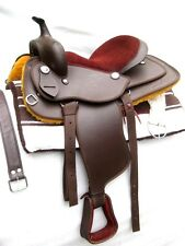 """""""New"""" western synthetic saddle BROWN with attractive accessories !!! in 4 sizes"""