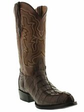 mens real brown alligator crocodile tail exotic leather western cowboy boots J