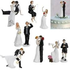 ROMANTIC FUNNY LOVE BRIDE AND GROOM WEDDING PARTY CAKE TOPPER DECORATION
