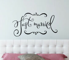 Just Married Wall Sticker Home Quotes Inspirational Love MS373VC