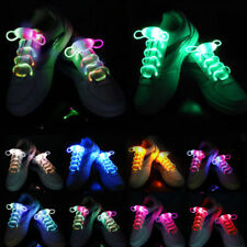 LED Flash Glow in Dark Shoelaces Light Up Shoe Laces Disco Bar Party Skating
