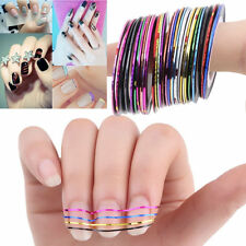 Mixed Colors Rolls Striping Tape Line Nail Art Tips Decoration Sticker KY
