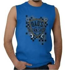 Dad's Workshop Fathers Day Funny Shirt Humorous Gift Ideas Sleeveless Tee