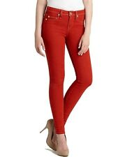 TRUE RELIGION SERENA PHANTOM AMERICAN FLAG PATCH SKINNY LEG RED HOT JEANS PANTS