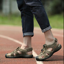 Large Size Mens Sport Leather Sandals Casual Shoes For Fisherman Outdoor Sandals