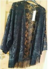 Lovely Black Lace Effect Kimono Style Jacket in size 24 from George - BNWT
