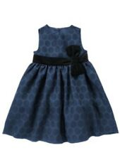 Gymboree NWT Holiday Shine Blue Velveteen Bow Dress 6-12 12-18M 18-24M 2T to 5T
