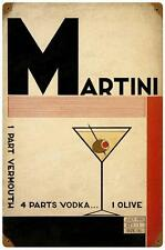 Vintage Martini Vodka Vermouth Metal Sign Restaurant Bar Pub Tavern Decor 148