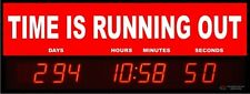 Digital LED Countdown Event Timer - TIME IS RUNNING OUT -  ETCD100-03