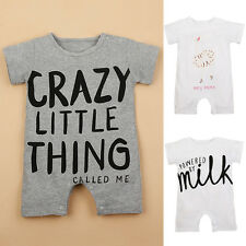 Cotton Newborn Baby Girl Boy Clothes Bodysuit Romper Jumpsuit Playsuit Outfits