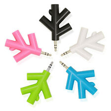 3.5mm Male to 4 Female Branches Audio Splitter Cable Earphone Headphone Headset