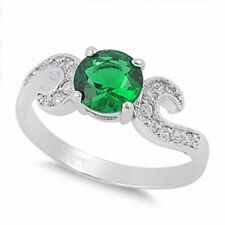 Royal Wedding Engagement Ring 925 Sterling Silver 2.20ct Emerald Russian CZ