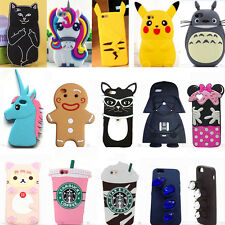 New 3D Cute Cartoon Soft Silicone Rubber Case Cover Back Skin For Various Phones