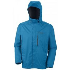 COLUMBIA HAILTECH II JACKET MENS HYPER BLUE WATERPROOF RAIN COAT NEW