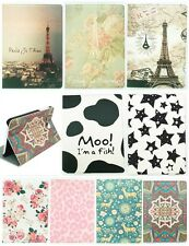 Colors Pattern Tablet PC Flip PU Leather Stand Slim Skin Case Cover For Samsung