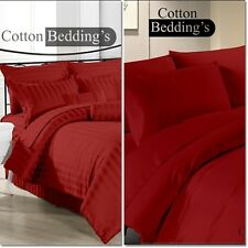 Super Soft Egyptian Cotton 800 1000 1200 TC Hotel UK Super King Size in Burgundy