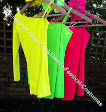 Freestyle Disco Beginners Dance Costume 4-14yrs Various Bright Colours