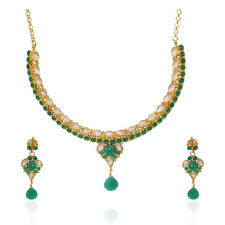 Indian Ethnic Antique Gold Bollywood Style Designer  Polki stones Necklace sets