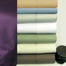 "SRP Bedding 800TC 100%Cotton Solid Sheets 33"" Deep Pocket 4PC OR 6PC Sheet Set"
