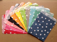 25 Colored Favor Food Oil Paper Party Bags Polka Dot Craft Bag For Party
