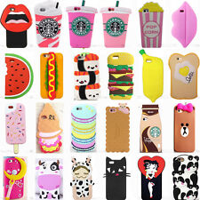 Hot 3D Cool Cute Fahion Sweet Food Soft Silicone Case Cover Skin Back For iPhone