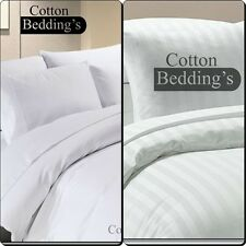 Festive Combo Bedding 800 1000 TC Egyptian Cotton Hotel Super King Size in White