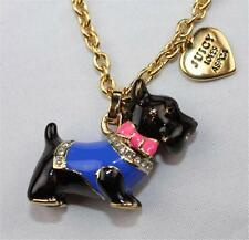 NWT Juicy Couture ASPCA YORKIE SCOTTIE CHARM PENDANT Gold Chain NECKLACES Dog