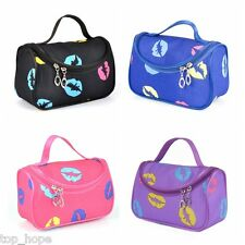 Colorful Lips Multifunction Pouch Toiletry Wash Zip Makeup Travel Cosmetic Bag