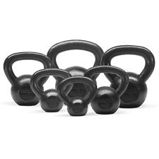Yes4All Solid Cast Iron Kettlebell Combo Set 5 10 15 20 25 30 lbs Fitness Gym