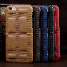 Luxury Thin Leather Hard Back Case Cover Skin for iPhone 6 6s 4.7/Plus 5.5 5s SE