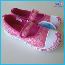 Peppa Pig Pink Canvas Shoes Size 4 - 10 UK brand new without box