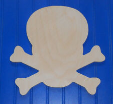 "8"" Unpainted Wooden various PIRATE NAUTICAL Shapes Cut Outs Wall  Decor Crafts"