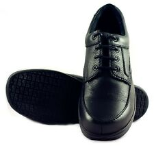 Townforst Mens Non Slip Resistant Work Leather Shoe Black Fashion No Slip