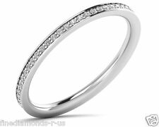 0.25carat Round Diamonds Channel Set Full Eternity Wedding Ring in 18K Gold