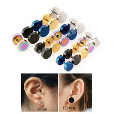 Stainless Steel Fake Cheater Earrings Plugs Gauge Illusion Body Piercing Jewelry