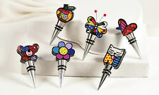 ROMERO BRITTO POLYSTONE & METAL BOTTLE STOPPERS * 1 PER ORDER ** NEW **