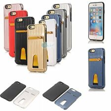 SUITCASE Style Card Hold TPU Soft Inner Case Hard Skin Cover US For Apple iPhone