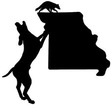 Coon Hunting Missouri State Decal, Vinyl Truck, Window Stickers, Raccoon Graphic