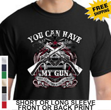 Second 2nd Amendment You Can Have My Gun AR 15 Assault Rifle New Mens T Shirt