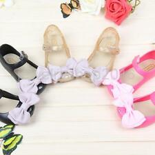 Summer Cute Girls Bow Sandals Jelly Shoes Kids Gift Toddler Mary Jane Rain Shoes