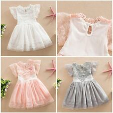 Toddler Baby Kid Girl Princess Party Wedding Tutu Lace Flower Tulle Dresses 2-7Y