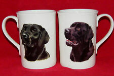 BN Black Labrador China Mug, Bone China Mug, Dog Gift, Different Labradors