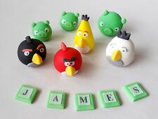 ANGRY BIRDS cake toppers edible decoration personalised birthday unofficial