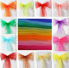 Sashes Wedding Party New Ribbons Banquet Feast Sheer Chair Cover Organza Bow DIY