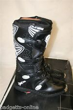 OXTAR DUNES BLACK MOTORCROSS MOTORCYCLE BOOTS SIZE 43 / 9 - NEW / OLD STOCK